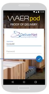 WAERpod Proof of Delivery app